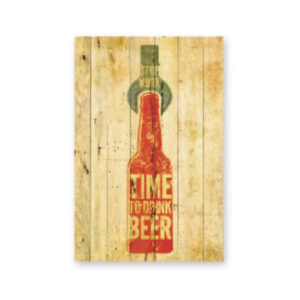 cuadro-decoracion-madera-time-to-drink-beer