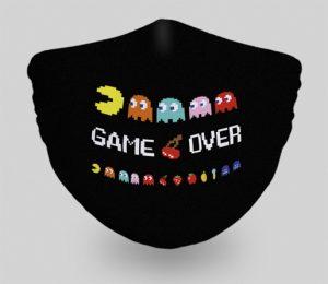 mascarillas-diseños-originales-videojuegos-pacman-game-over