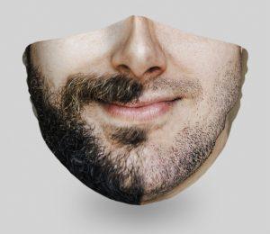 mascarillas-diseños-originales-caras-divertidas-barba