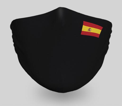 mascarilla-bandera-españa-negra