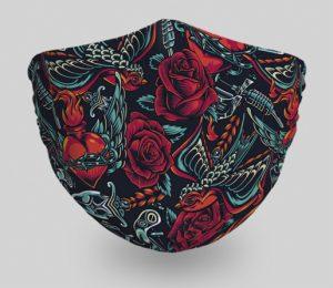 mascarillas-diseños-originales-tattoo-rosas